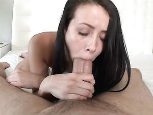 Slut Sucks Dick And Balls Before He Pounds Her Pussy