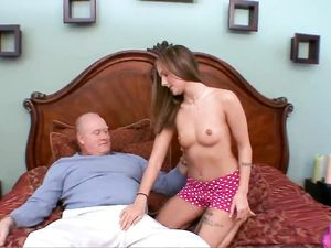 Grandpa Fucking A Young Brunette Babe In Doggy Style