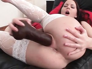 19 Yo Teen With Long Dildos Inside Her Cunt