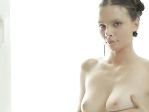 Teen Gropes Her Flawless Tits And Vibrates Her Cunt