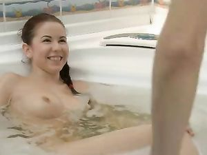 Doggystyle In The Bathtub With A Super Cute Teenager