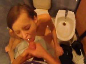 Public Bathroom Fucking With A Cute Blonde