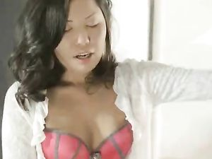 On His Knees Worshiping Her Asian Pussy