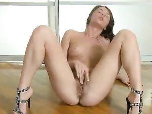 Hot Girl In High Heels Masturbates Her Beautiful Pussy