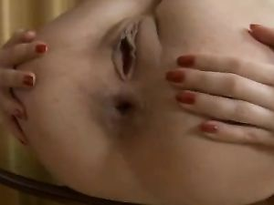 Whore Spreads Wide For Big Cock Ass Fucking