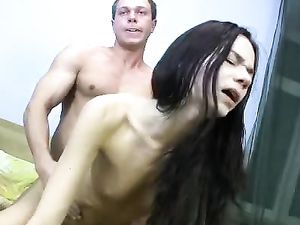 19 Year Old Slut Is His Sex Toy In The Bedroom