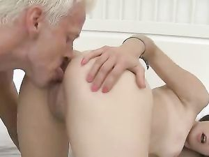 Beauty In Pigtails Blows Him And Gets Pounded
