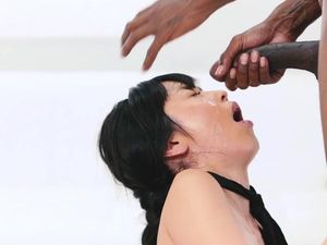 Cute Asian Schoolgirl Gets To Play With A Black Boner