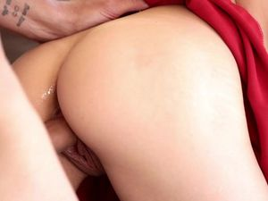 Blonde Teen Cheerleader Riding His Thick Boner
