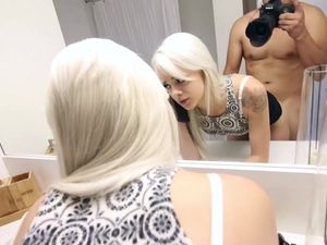Fucking His Hot Teen Blonde Babe Before Work