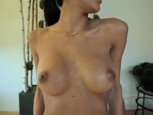 Fit Girl With Fantastic Tits Oiled Up And Fucked