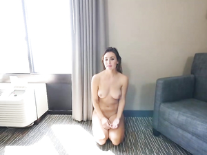 Beauty With Great Tits Blows Him In A Nice Hotel Room