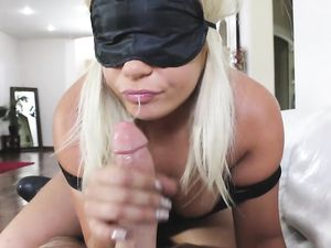 Blindfolded Girl Sucks Off Her Stepbrother And Swallows