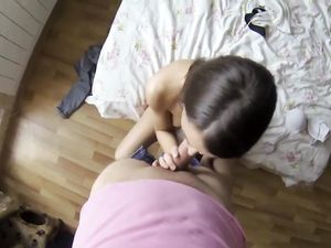 Pussy Of A Cute Brunette Getting Banged
